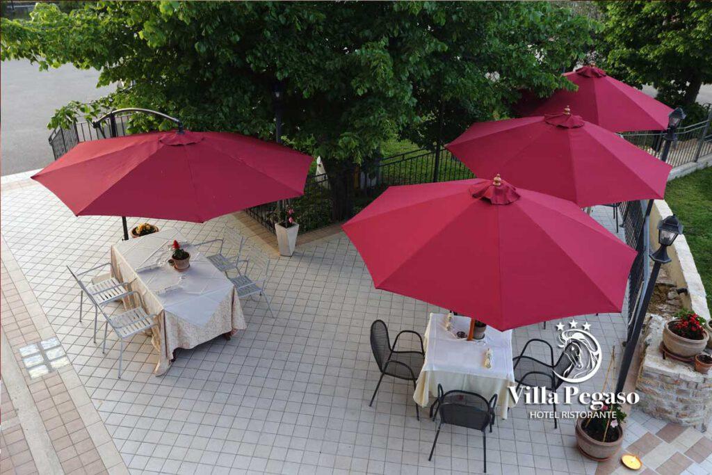 Terrazza ristorante Villa Pegaso